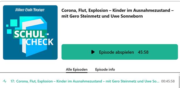 Podcast Schul-Check Kölner Stadt-Anzeiger